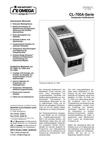 Temperatur-Kalibratoren CL-700A Series