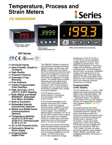 Temperature, Process and  Strain Meters: i series