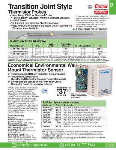 Thermistor Probe  TJ36-44004 Series