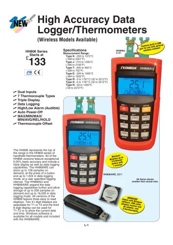 Thermocouple Data Logger/Thermometer  HH806