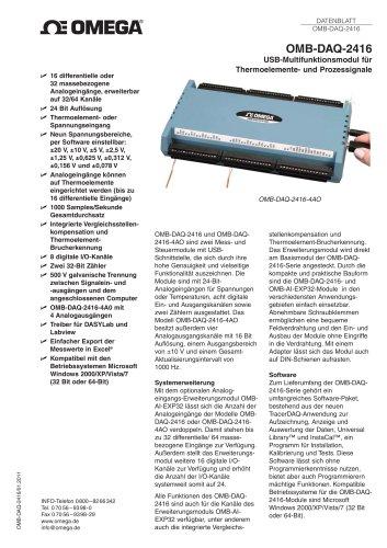 USB-Multifunktionsmodul für Thermoelemente- und Prozessignale