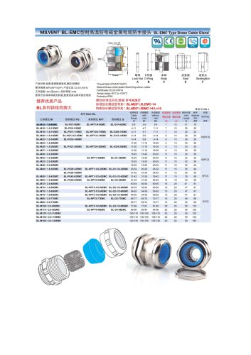 STAINLESS STEEL CABLE GLAND / BRASS / EMC-SHIELDED / STRAIGHT
