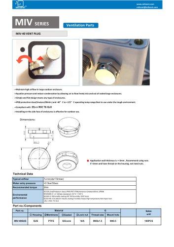 SUS Material M40x1.5 Breather Vent Plug