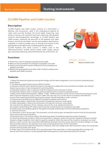 CL1400 Pipeline and Cable Locator