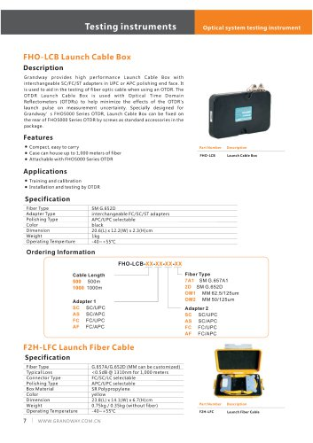 FHO-LCB Launch Cable Box