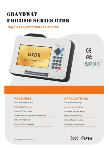FHO3000 Series OTDR
