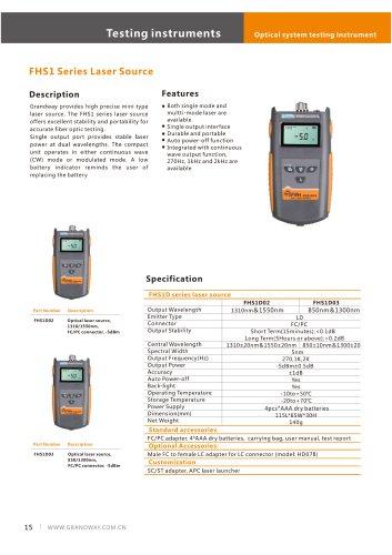 FHS1 SErie Laser Source