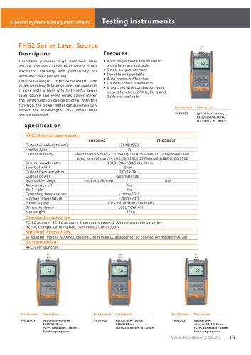 FHS2 Series Laser Source