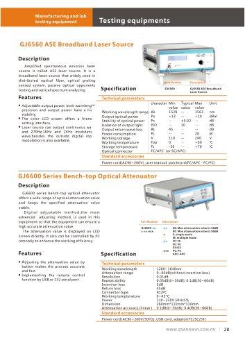 GJ6600 Series Bench-top Optical Attenuator