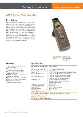 OFI-3 Optical Identifier