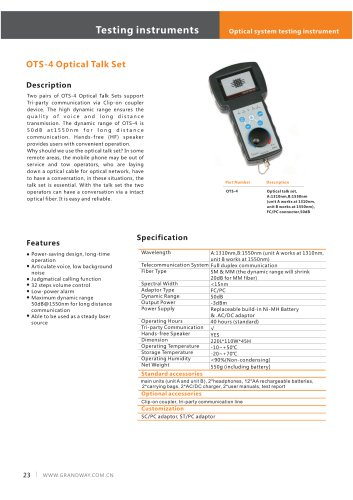 OTS-4 Optical Talk Set