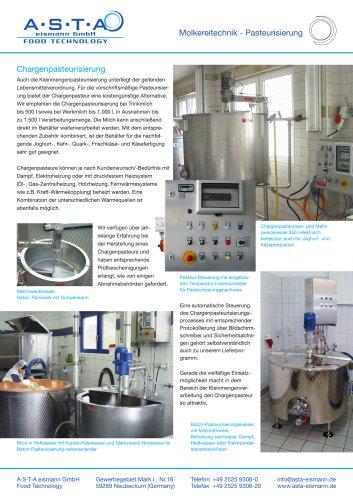 Molkereitechnik - Pasteurisierung