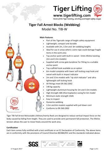 Tiger Fall Arrest Blocks