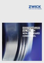 HIGH STANDARD VALVES FOR NON-STANDARD CONDITIONS