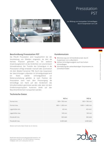 Pressstation PST