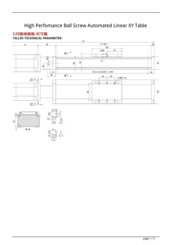 High Perfomance Ball Screw Automated Linear XY Table