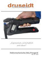 Elektromechanisches Akku-Pressgerät