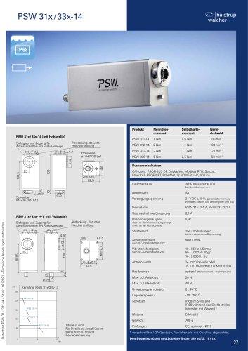 Datenblatt Positioniersystem PSW 31x/33x-14