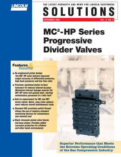 MC2-HP Series Progressive Divider Valves