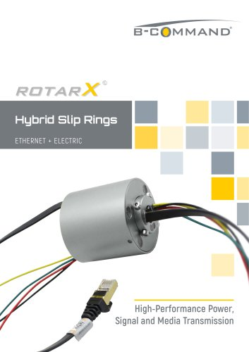 Ethernet Slip Rings rotarX by B-COMMAND