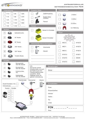 Getriebeendschalter FCN Anfrageformular B-COMMAND