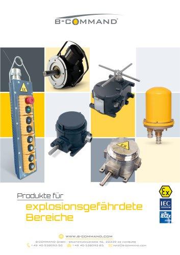 Produkte für explosionsgefährdete Bereiche (ATEX, IECEx) B-COMMAND