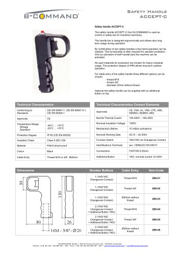 Safety Handle ACCEPT-C