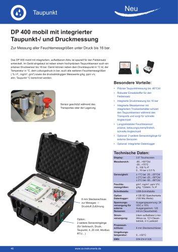 Technisches Datenblatt DP 400 mobil
