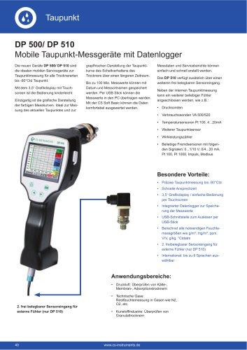 Technisches Datenblatt DP 500