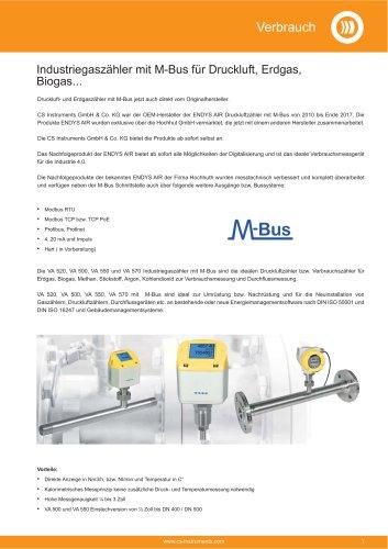 Technisches Datenblatt M-Bus Zähler