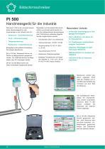 Technisches Datenblatt - PI 500 - 1