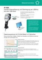 Technisches Datenblatt - PI 500 - 2
