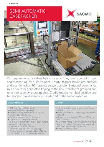 Semi-automatic Casepacker