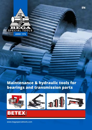 MAINTENANCE & HYDRAULIC TOOLS FOR BEARINGS AND TRANSMISSION PARTS