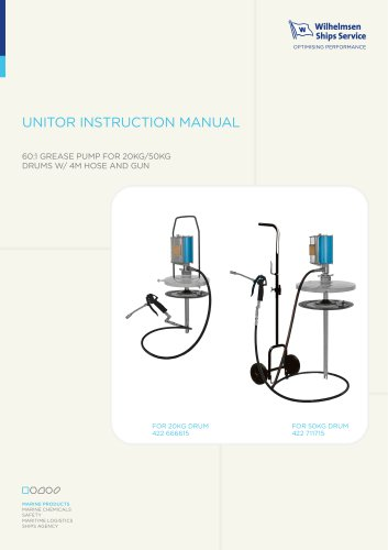 UNITOR INSTRUCTION MANUAL
