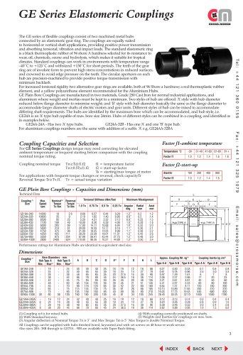 Elastomeric Couplings - Type GE