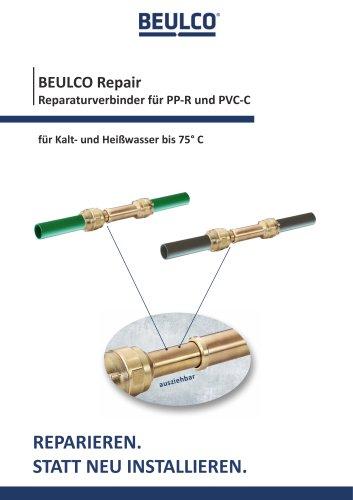 BEULCO Repair Verbinder für PP/PVC-Rohre (Warmwasser)