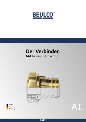 Verbinder für Kunststoffrohre mit festem Stützrohr (Gesamtkatalog)