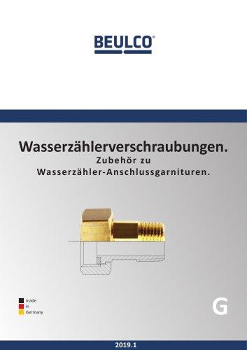 Wasserzählerverschraubungen (Gesamtkatalog)