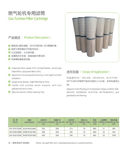 Conical & Cylindrical Gas Turbine Air Inlet Filters