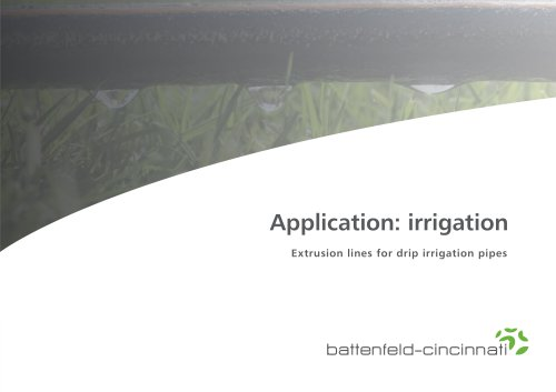 Application: irrigation