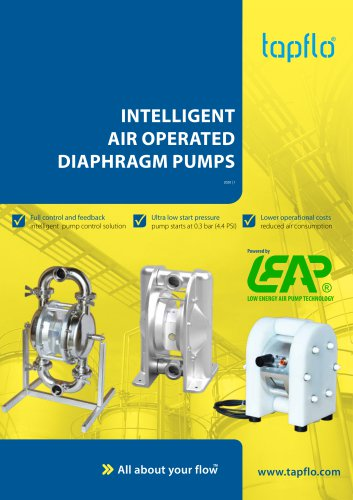 INTELLIGENT AIR OPERATED DIAPHRAGM PUMPS