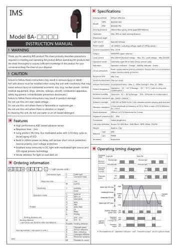BA photoelectric sensor