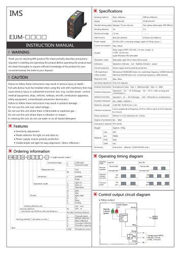 E3JM photoelectric sensor