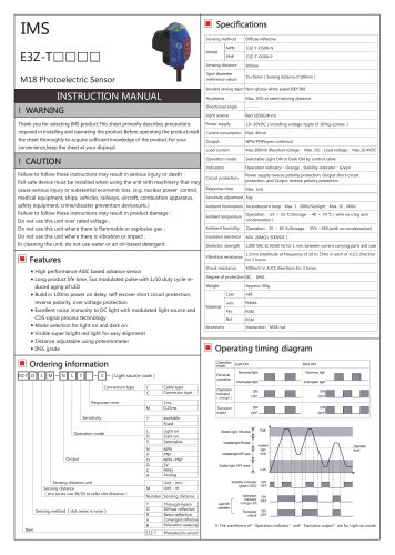E3Z-T photoelectric sensor
