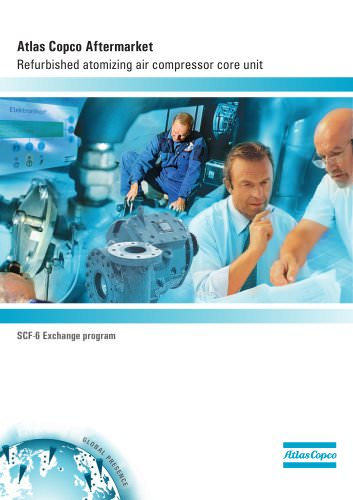 Atlas Copco Aftermarket Refurbished atomizing air compressor core unit