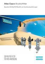 Atlas Copco Druckluftfilter Baureihe DD/DDp/PD/PDp/QD und Hochdruckausführungen