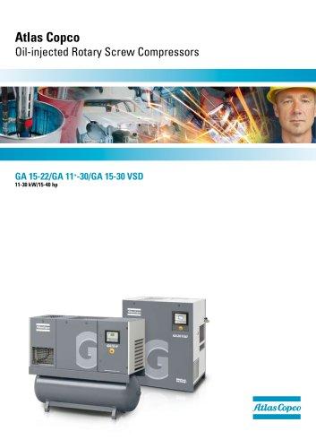 GA 15-22/GA 11+-30/GA 15-30 VSD Atlas Copco Oil-injected Rotary Screw Compressors 11-30 kW/15-40 hp