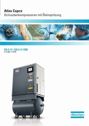 GA 5-11 / GA 5-11 VSD 5-11 kW/7-15 hp