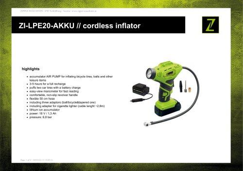 ZI-LPE20-AKKU // cordless inflator